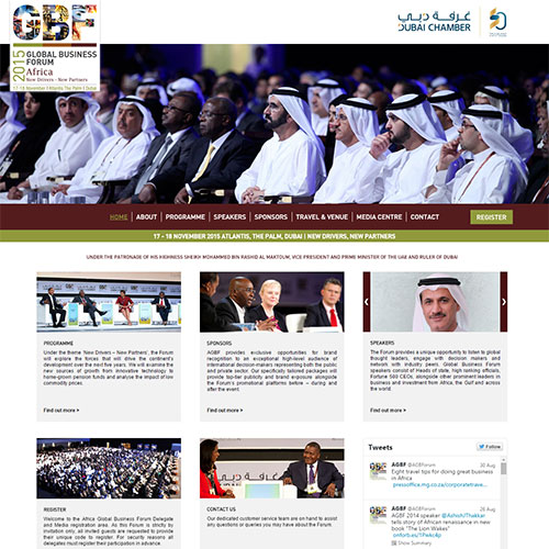 Screenshot of Africa Global Business Forum