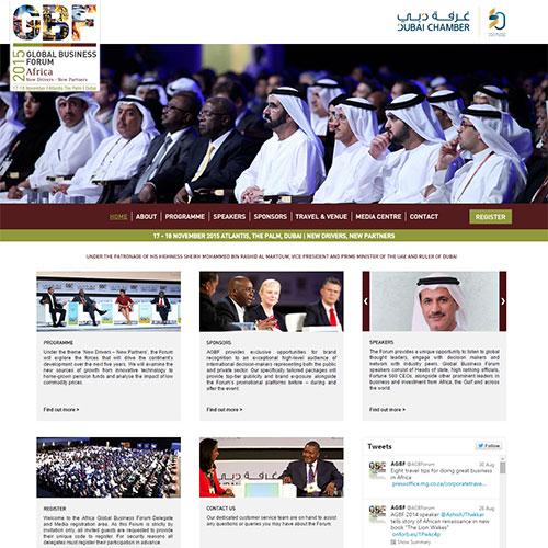 Screenshot of Africa Global Business Forum
