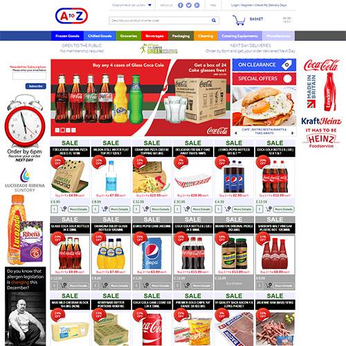 Screenshot of AtoZ Catering