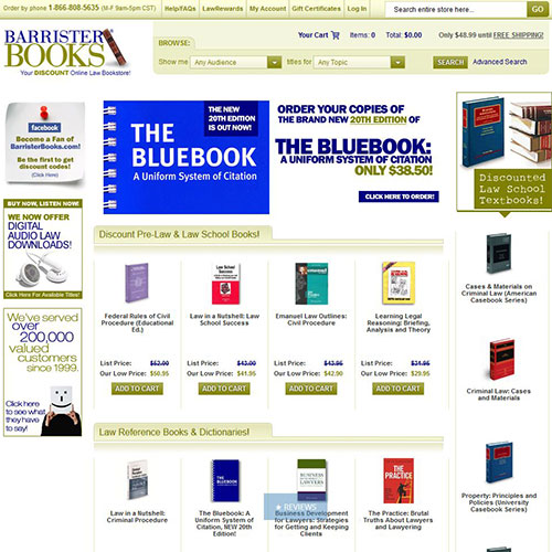 Screenshot of Barrister Books