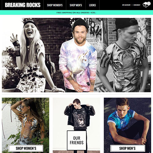 Screenshot of Breaking Rocks Clothing