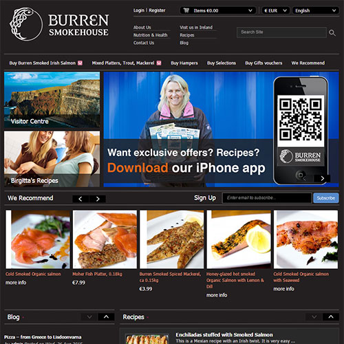 Screenshot of Burren Smokehouse