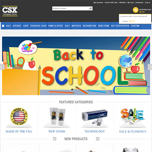 Screenshot of CSX Store