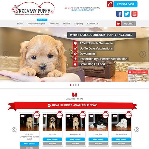 Screenshot of Dreamy puppy