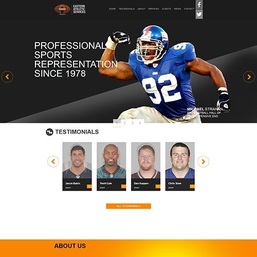 Screenshot of EAS Football