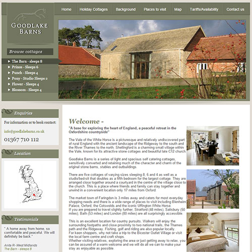 Screenshot of Goodlake Barns