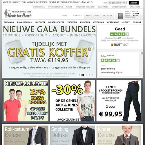 Screenshot of Henk ter Horst Fashion Group
