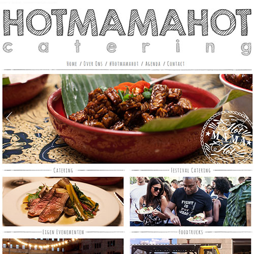 Screenshot of HotMamaHot Catering