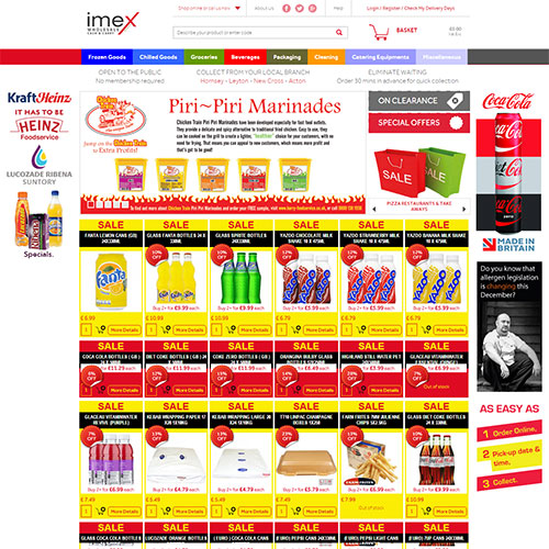 Screenshot of Imex Foods