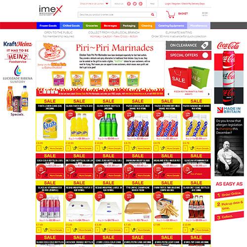 Screenshot of Imex Foods