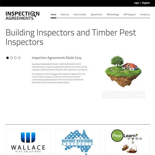 Screenshot of Inspection Agreements