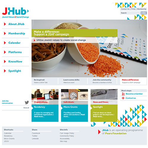 Screenshot of JHub