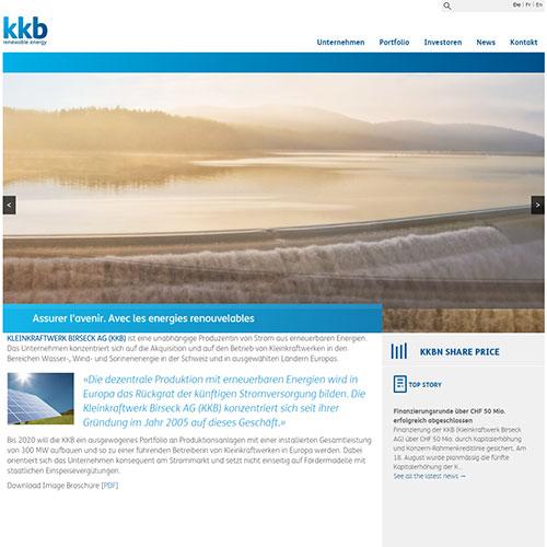 Screenshot of KKB Energy