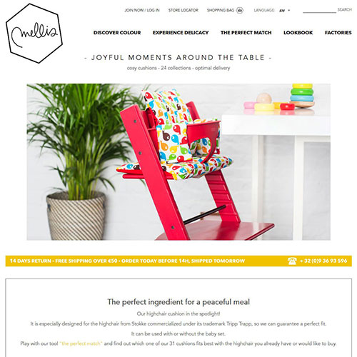 Screenshot of Mellis -highchaircushion