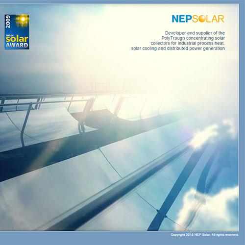 Screenshot of NEP SOLAR