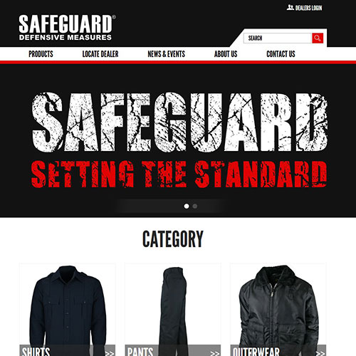 Screenshot of SafeGuard Uniforms