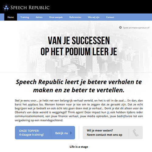 Screenshot of Speech Republic