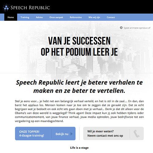Screenshot of Speech Republic