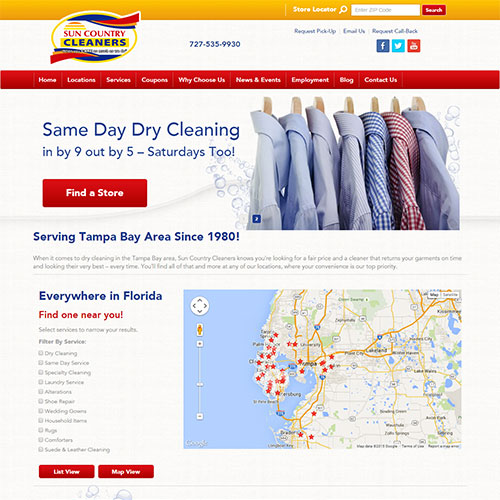 Screenshot of Sun Country Cleaners