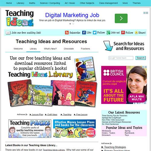 Screenshot of Teaching Ideas