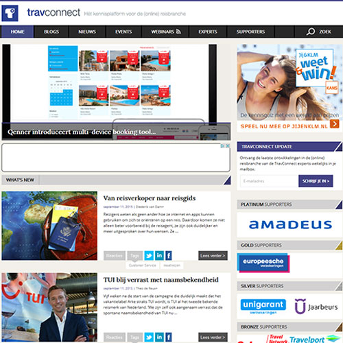 Screenshot of TravConnect