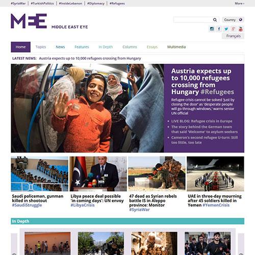 Screenshot of Middle East Eye