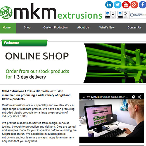 Screenshot of MKM plastics